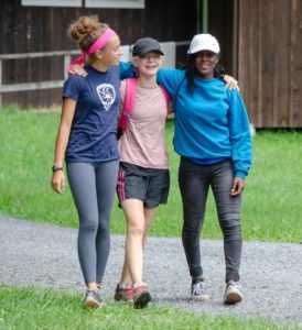 New friendships at summer camp